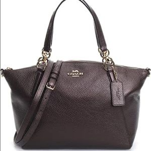 Coach metallic Kelsey Bronze Metallic Satchel